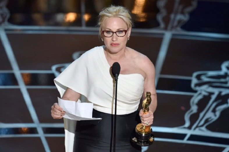 2015: Patricia Arquette Rallies For Pay Equality