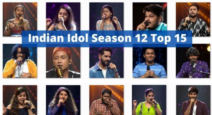 Indian Idol Season 12 top 15 contestants